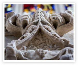 Piece of medieval stone masonry