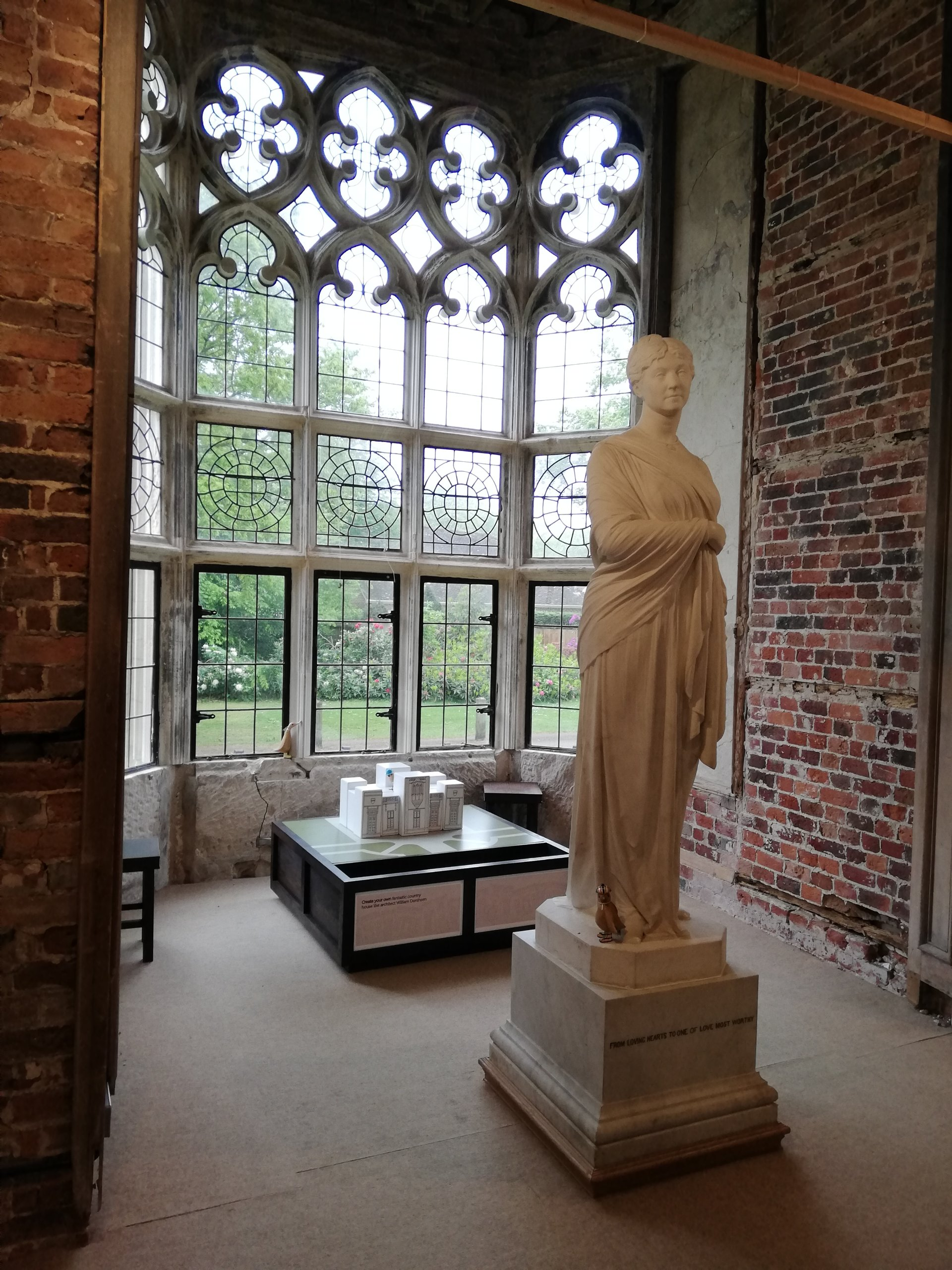 Spot the Duck - three wooden bird figures hidden around a marble statue of Lady Waterford, situated in the Ante-Library of Highcliffe Castle