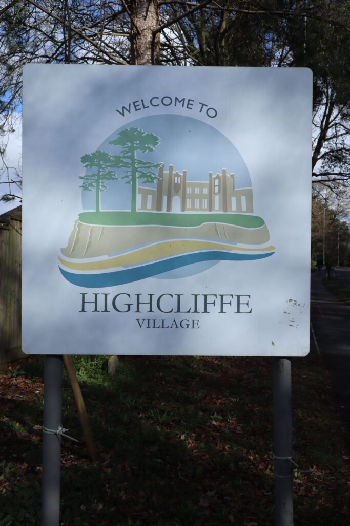 Highcliffe Castle Village Sign